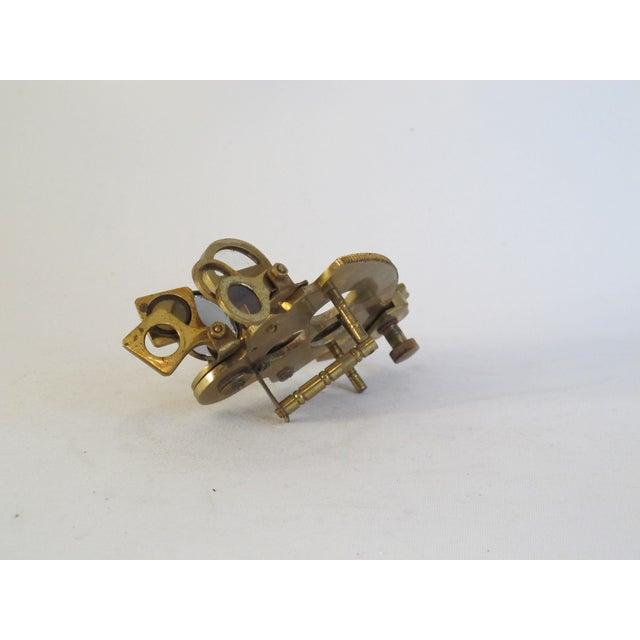 Brass Sailor's Sextant, Navigation Device - Image 5 of 9