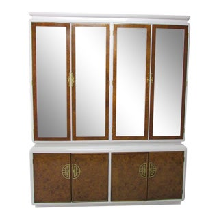 Century Burl-Wood & Lacquered Armoire