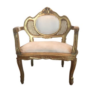 Louis XV-Style Cane Armchair