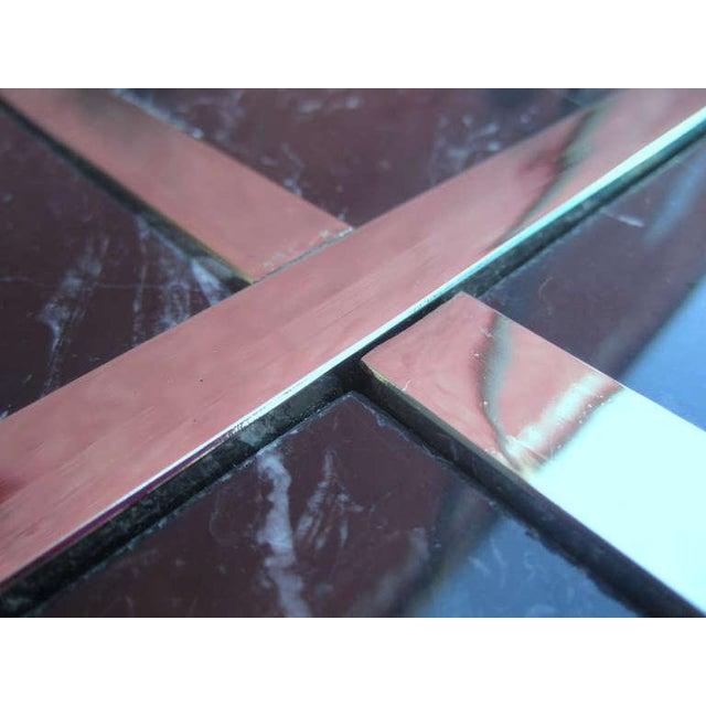 Artedi Italian Marble Pedestal Side Tables - Pair - Image 3 of 7
