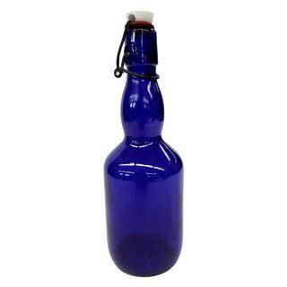 Cobalt Blue Spring Top Beer Bottle
