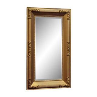 Gold Painted Beveled Glass Wood Mirror