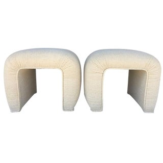 Karl Springer Waterfall Benches - A Pair