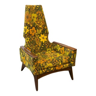 Pearsall-Style Kroehler High Back Lounge Chair