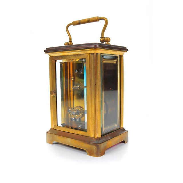 Stowell & Co. Antique Brass Carriage Clock - Image 7 of 9