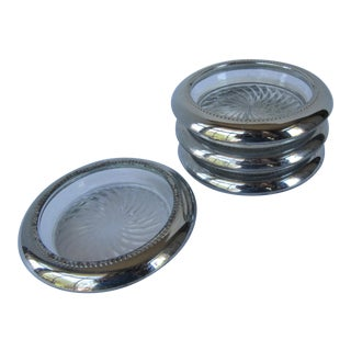Mid-Century Silverplate Coasters - Set of 4