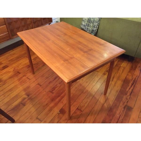Mid-Century Modern Draw Leaf Dining Table - Image 2 of 6