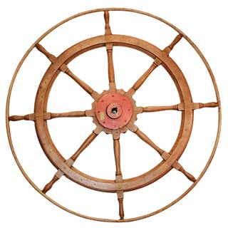 Early 20th Century Authentic Yacht Wheel