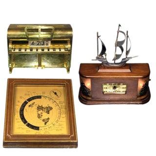 THREE ART DECO NOVELTY CLOCKS