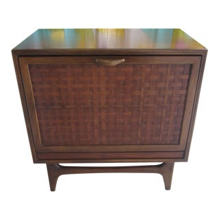 Vintage Mid-Century Lane Perception Walnut Record Cabinet