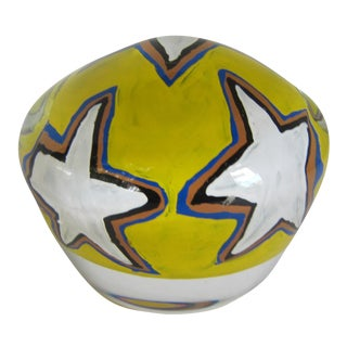 Rick Beck Glass Star Paperweight