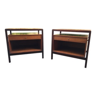 American Walnut Nightstands by John Stuart - A Pair