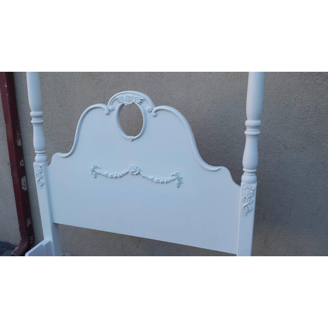 Image of Four Poster French Style White Bed