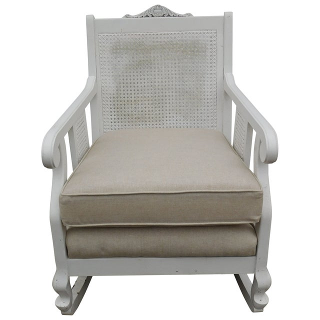 Image of Vintage Cane Rocking Chair