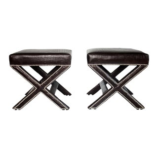 X-Bench in Faux Leather Alligator - A Pair