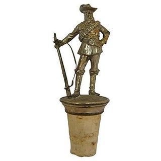 1920s Cowboy Figural Bottle Topper