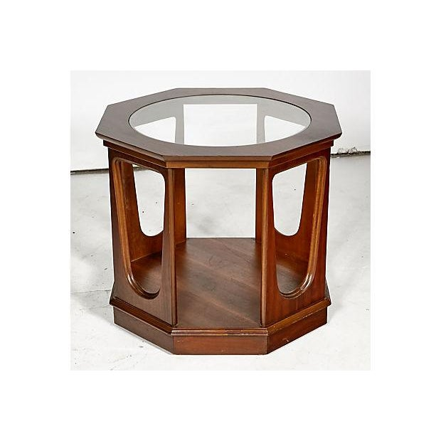 1960s Glass Top Octagon Side Table - Image 3 of 5