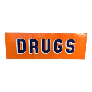 "Vintage Mid-Century Rexall ""Drugs"" Sign"