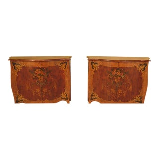 Oversized Painted French Commodes - A Pair