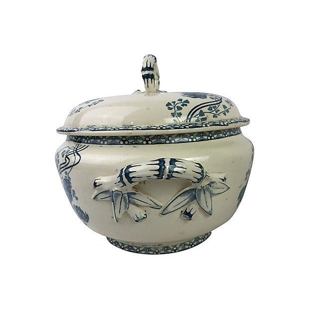 Image of French Transferware Covered Tureen