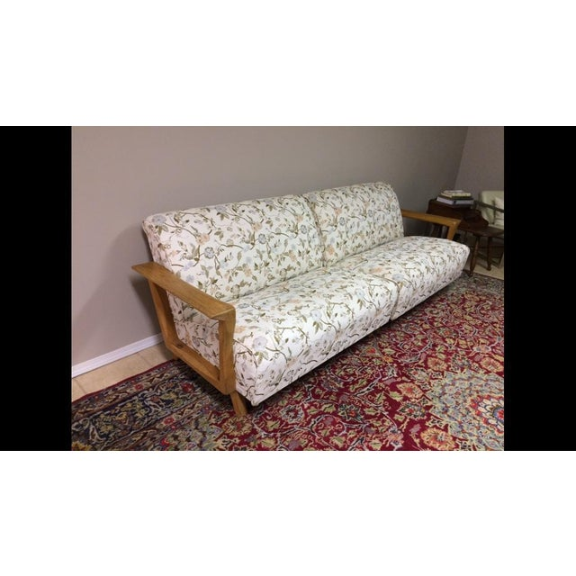 Mid Century Modern Atomic Long Couch - Image 6 of 10