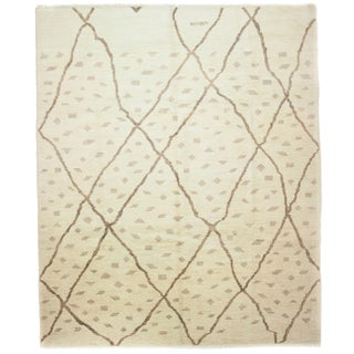 """New Moroccan Hand-Knotted Rug - 8'7"""" x 10'"""