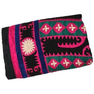 Large Pink Suzani Tapestry