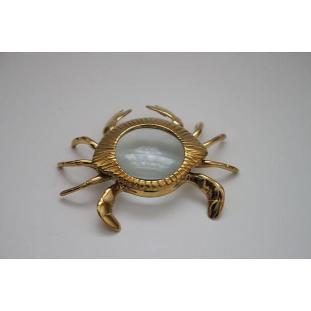 Brass Crab Magnifying Glass Paperweight - Image 3 of 3
