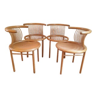 Helmut Lubke Mid-Century Sculptural Chairs - Set of 4