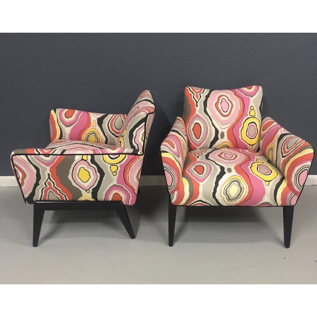 Italian Mid Century Lounge Chairs in the Style of Ico Parisi - a Pair - Image 6 of 9