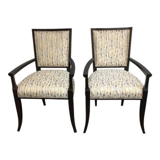 New Hickory Chair Co. Nicole Arm Chairs - a Pair