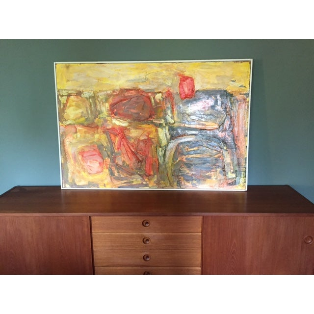 Walter Hook Mid-Century Abstract Painting - Image 2 of 7