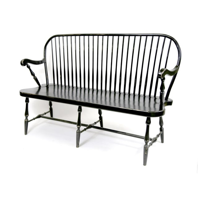 Image of Traditional Windsor Style Amish Bench