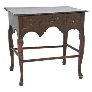 Edwardian English Oak Dressing Table / Lowboy