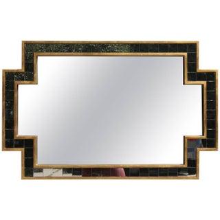 Oversized Gilt & Square Edge Polygon Mirror