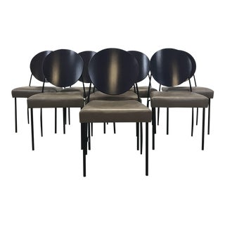 Dakota Jackson Leather Dining Chairs - Set of 8