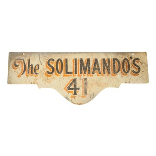 Vintage Deco Double Sided House Sign Solimando's