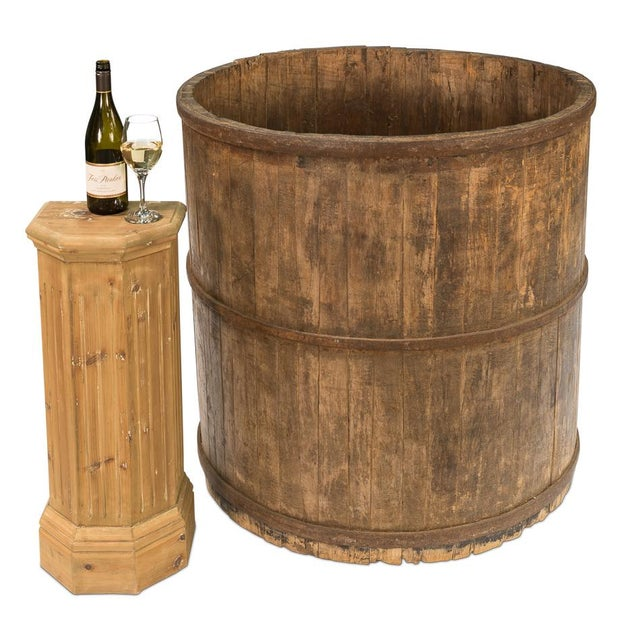Sarreid Ltd. 120 Year Old French Grade Wine Making Barrel - Image 4 of 4