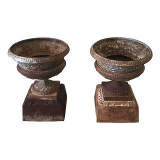 Antique Garden Urns - Pair