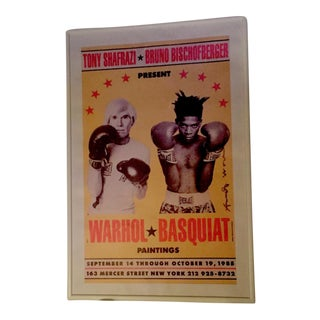 Andy Warhol Jean Paul Basquiat 1985 Exhibition Poster