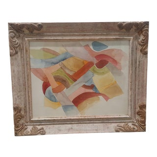 Framed Abstract Watercolor Painting