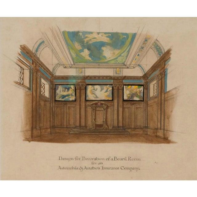 Art Deco Board Room Rendering Illustration - Image 2 of 3