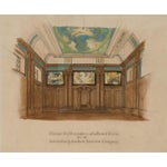 Image of Art Deco Board Room Rendering Illustration