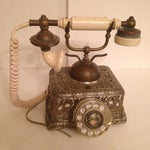 Image of Vintage French Victorian Rotary Dial Phone
