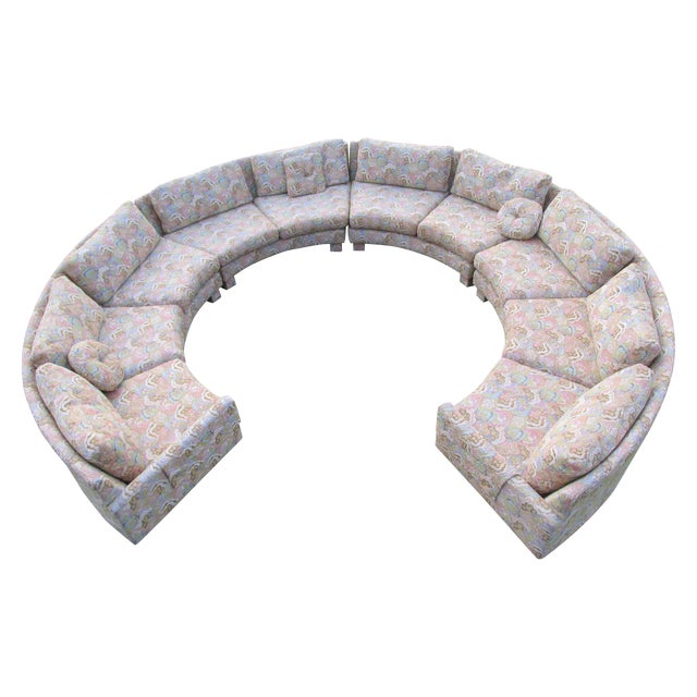 Image of Vintage Sectional Sofa Attr. To Milo Baughman