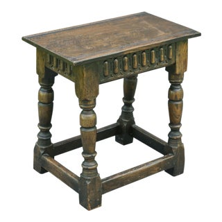 19th C. English Oak Joint Stool