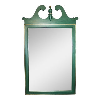 Evergreen Painted Federal Mirror