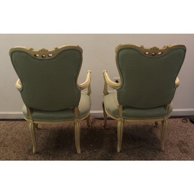 French Louis XV Ladies Open Arm Chairs - A Pair - Image 5 of 11