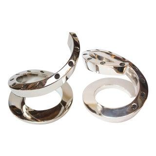 Bertil Vallien for Dansk Silver-Plated Spiral Candlesticks - a Pair