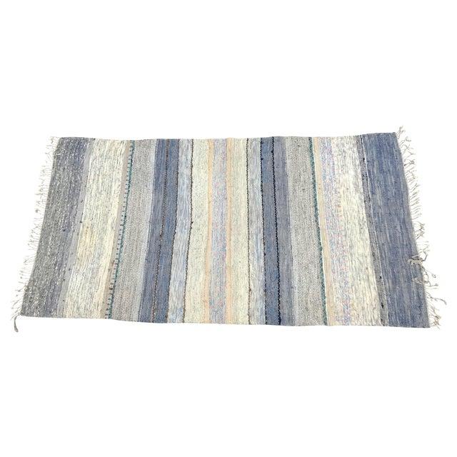 "Image of Vintage Striped Swedish Rag Rug - 6'4"" x 2'2"""